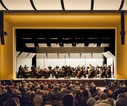 symphony orchestra performing