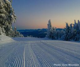 groomed trail at gore mountain