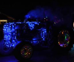 holiday lighted tractor
