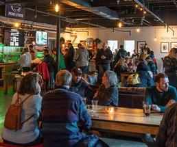people attending a party at racing city brewing co