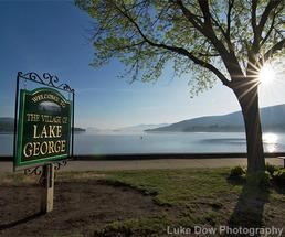 welcome to lake george village sign
