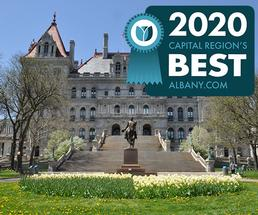 state capitol with region's best badge
