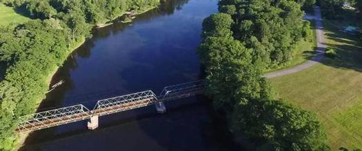 aerial view of bridge