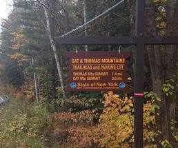Cat Mountain trailhead sign