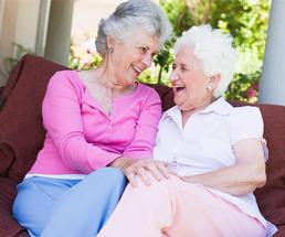 two older women friends