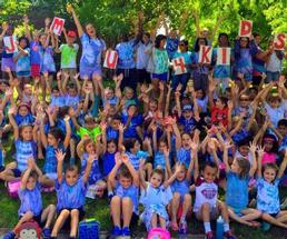 group of summer camp kids