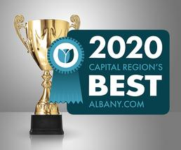 trophy with 2020 capital region's best badge
