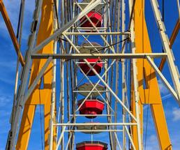 red and yellow ferris wheel