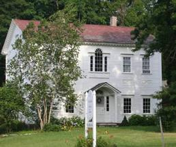 an old white house