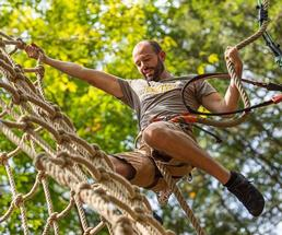 guy on treetop course