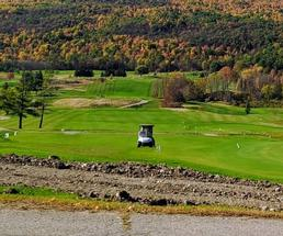 golf course in the fall