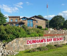exterior of dunham's bay resort
