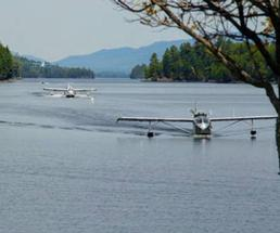 seaplanes over water