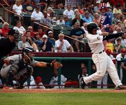a baseball game going on
