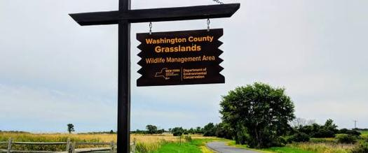 washington county grasslands sign