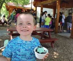 boy holding ice cream