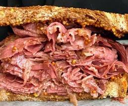 pastrami stuffed sandwich