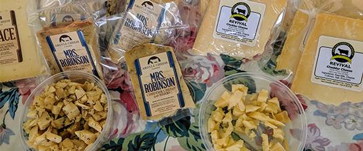 samples at a cheese tour event
