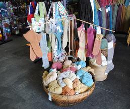 wool yarn and hand knitted socks