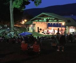 performance in an outdoor amphitheatre