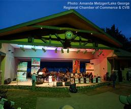 jazz festival performance in an outdoor amphitheatre