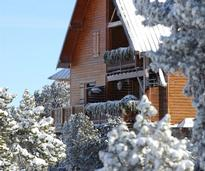 Snow covered cabin rental