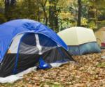 tents in the fall