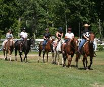 group horseback riding