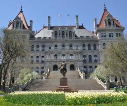 The State Capital Building in Albany