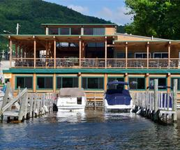 Restaurant with private dock and patio dining