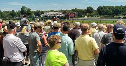 crowd at saratoga race course