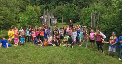 group of kids at summer camp