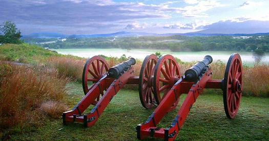 cannons at historic park