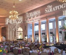 ballroom decorated for a gala
