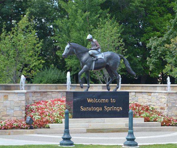 saratoga springs horse statue