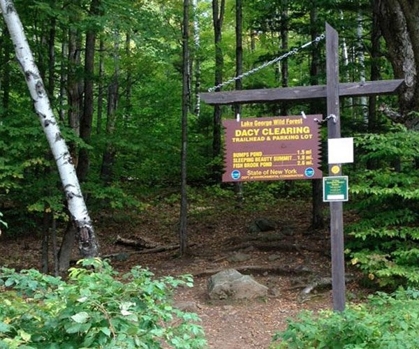 Dacy Clearing Hiking Trail Sign