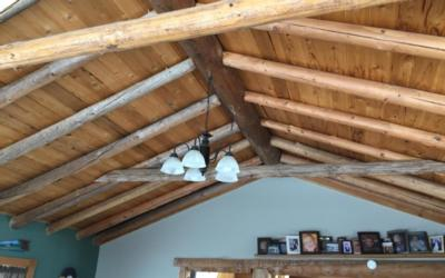 rustic ceiling in a home