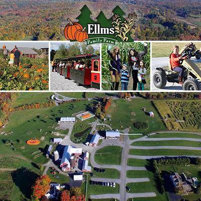 people doing fall activities at ellms family farm