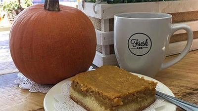 pumpkin, mug, and baked good
