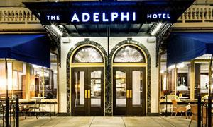 entrance to Adelphi Hotel