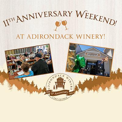adirondack winery 11th anniversary graphics