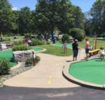 mini golfing outdoors