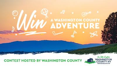 sunset with text that says win a summer adventure