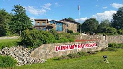 exterior shot of Dunham's Bay Resort
