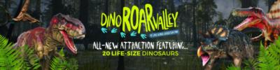 dinosaurs with text about dino roar valley