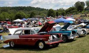 cars in a car show