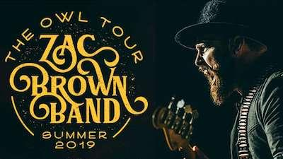 Zac Brown Band Tour graphic