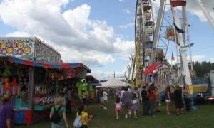 people walking at a fair
