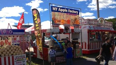 fair with food tents