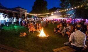 bonfire at a festival